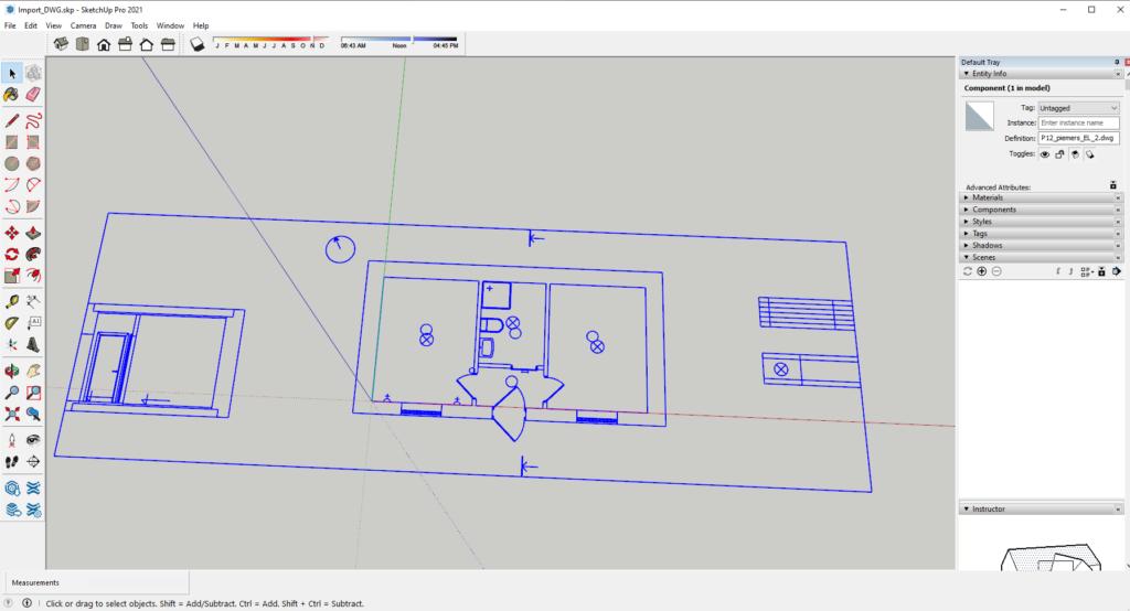 DWG-import-Sketchup-result